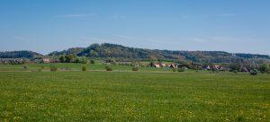 Blick auf Zumhaus und den Schlossberg