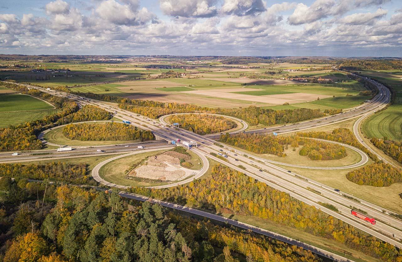 Autobahnkreuz Feuchtwangen Crailsheim Oktober 2017