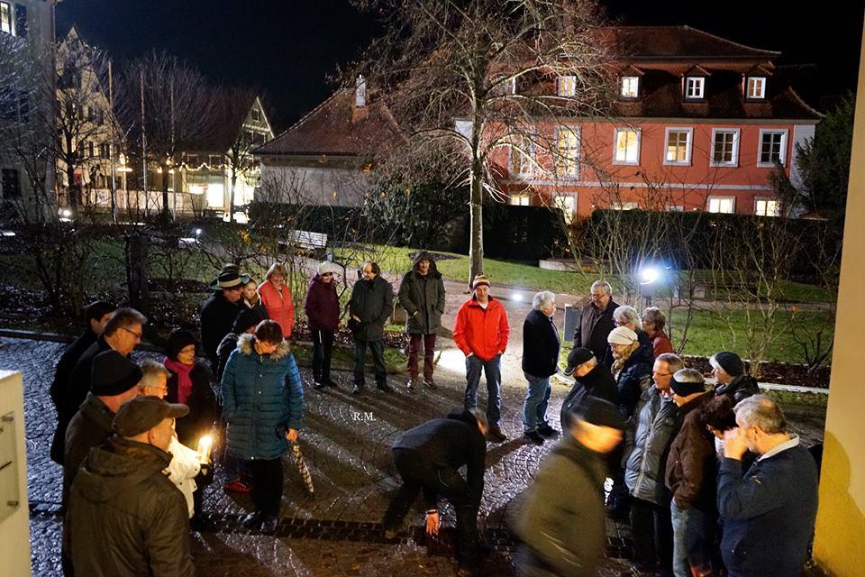 Protestaktion zur Sitzung des Zweckverbandes Interfranken 11.12.2018